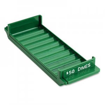 - SteelMaster 212081002 Porta-Count System Extra-Capacity Rolled Coin Plastic Storage Tray, Green