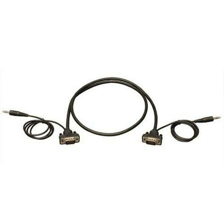 Tripp Lite 6' SVGA/VGA Compact RGB Coax Monitor Cable with Audio