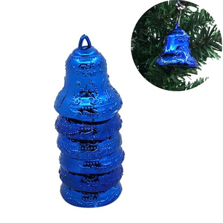 6Pcs Christmas Bell Christmas Tree Ornaments Xmas Decorative Pendant Decorative Tree Ornament