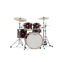 DW Design Series 5-Piece Lacquer Shell Pack with Chrome Hardware Cherry Stain