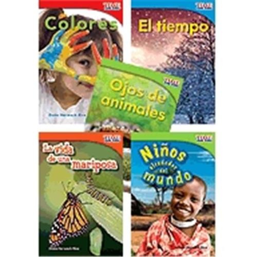 Shell Education 16098 Time For Kids Informational Text Grade 1 Readers Spanish Set 2, 10-Book Set