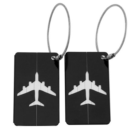 Travel Tags Aluminum Alloy Luggage Tags Bag Tags Set Travel Labels with Information Card Prefect to Quickly Find Luggage, Suitcase, Bags - 3 Pack (Aluminium Luggage Tag)