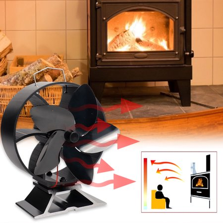 LeKing Fireplace Fan Intelligent Energy Saving Heat Powered Stove Fan No Electricity Consumption - image 8 of 9