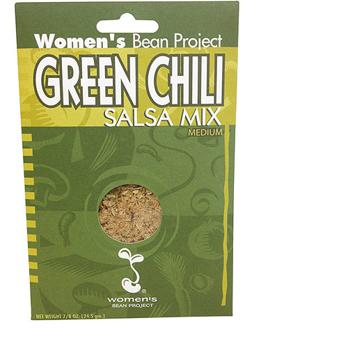 Women's Bean Project Green Chili Medium Salsa Mix, 0.875 oz