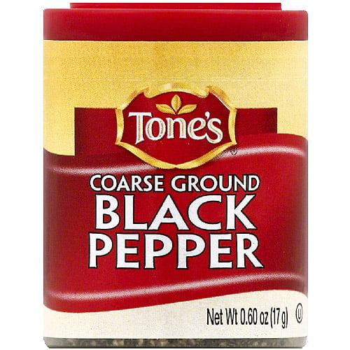 Tone's Coarse Ground Black Pepper, 0.6 oz (Pack of 6)