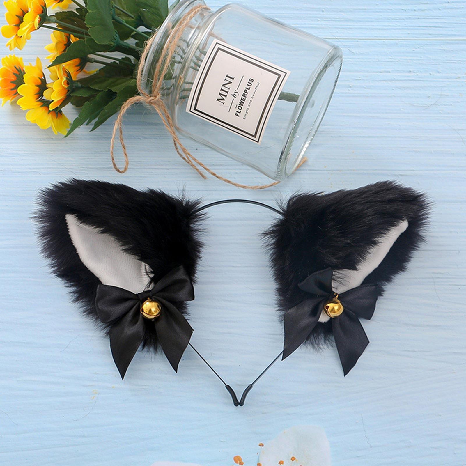 Details about  /Party Club Bar Cat Ear Head Band Hair Accessories Small bell Cartoon Hair Band