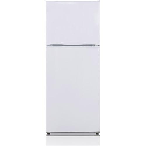 Midea 9.9 Cu. Ft. Energy Star Frost Free Top Freezer Refrigerator with Reversible Door in White.