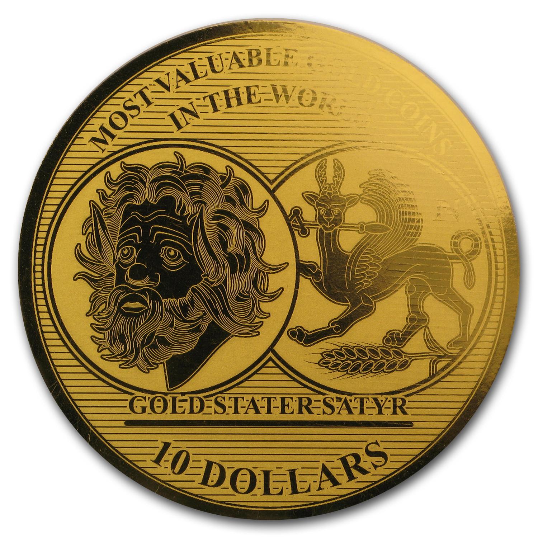 2017 Solomon Isl. 1/100 oz Gold Million Dollar Collection: Greece