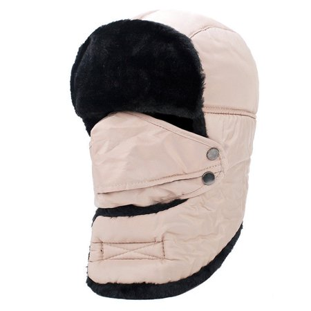 d52dfd7a3 Unisex Winter Ear Flap Trooper Hat, Comfortable Thermal Warm, for Skiing  (Khaki-Neck Warmer)