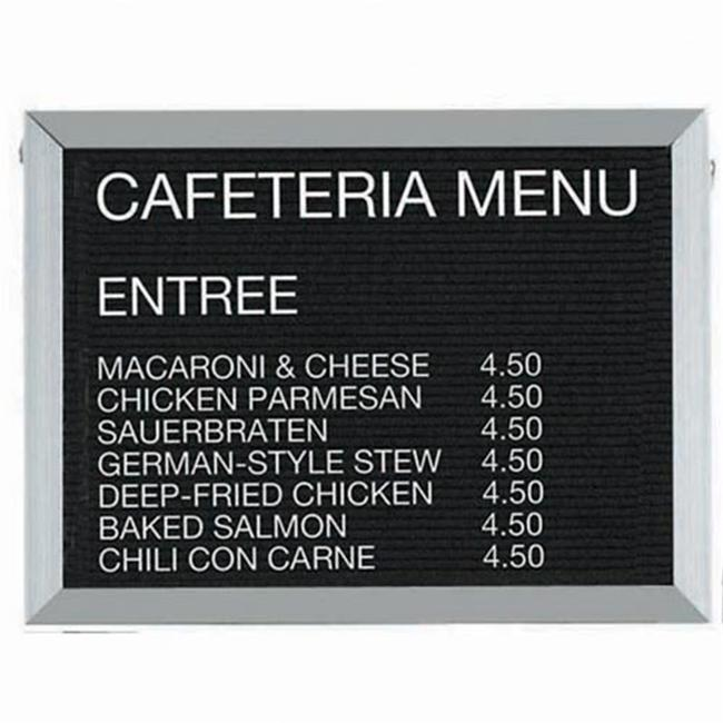 Aarco Products BOFD1824 Aluminum Framed Letter Board Message Center