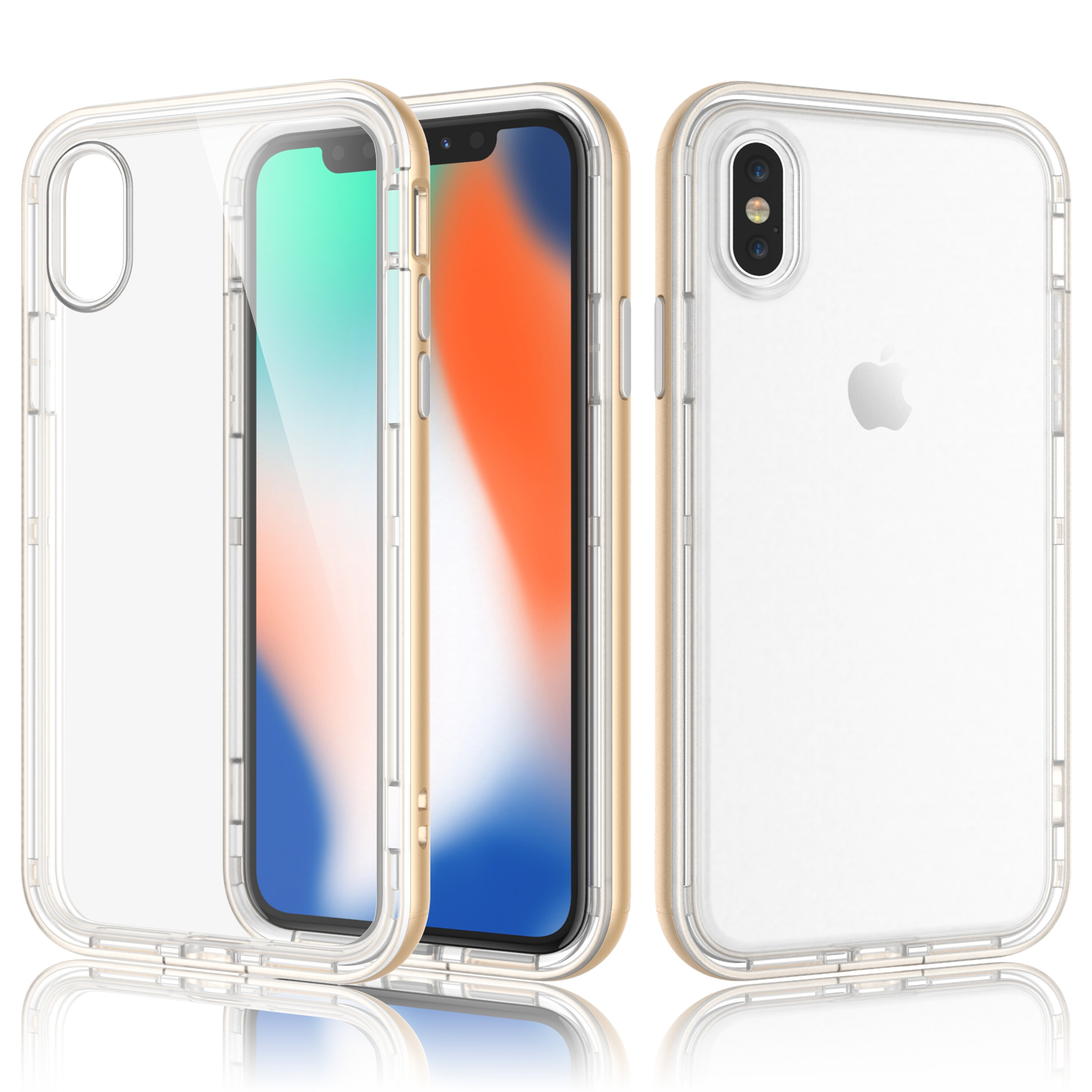 iPhone X Case, iPhone 10 Clear Case, iPhone X Edition Cover, Njjex Ultra Thin TPU Soft Case With Bling Diamond Cover For Apple iPhone X /iPhone 10 (2017 Release) -Rose Gold