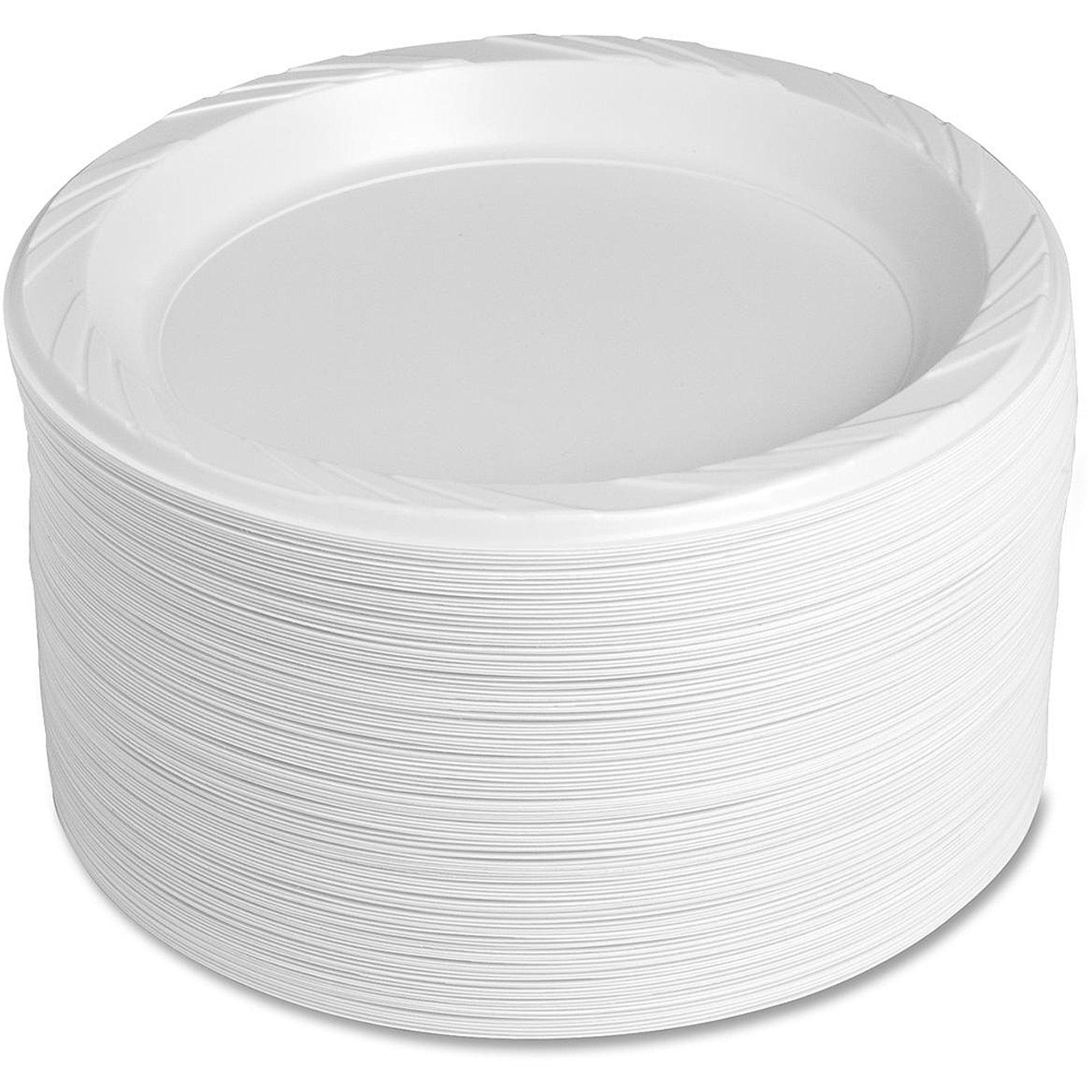 Genuine Joe Reusable Plastic Plates White 9  125 pack GJO10329 - Walmart .com  sc 1 st  Walmart & Genuine Joe Reusable Plastic Plates White 9