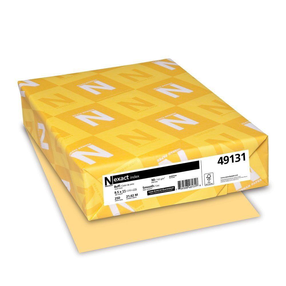 Neenah Exact Index 8.5 x 11 Buff Paper 90lb Cover 250/Ream