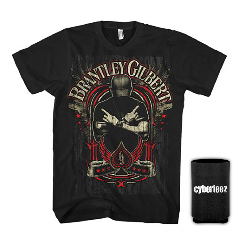 Brantley Gilbert Crossed Arms Photo Men's T-Shirt + Coolie (S)