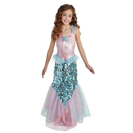 b54be89d31 Girl Pink Mermaid Medium Halloween Dress Up   Role Play Costume -  Walmart.com