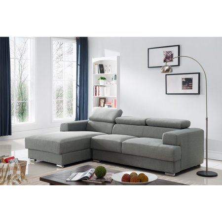 Gabriel Contemporary Fabric Upholstered 2-Pc Left Facing Sectional ...