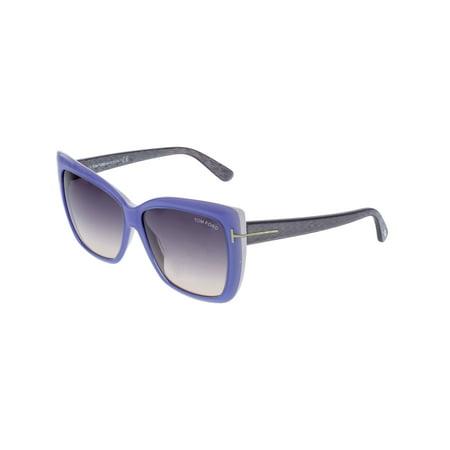 Tom Ford Women's Irina FT0390-84Z-59 Blue Square (Tom Ford Sunglasses Blue Lenses)