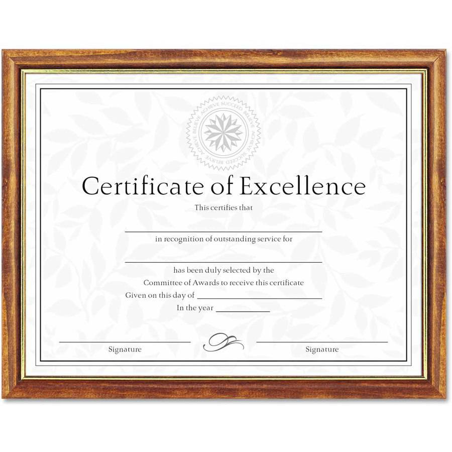 "DAX Two-Tone Document/Diploma Frame, Wood, 8-1/2"" x 11"", Maple with Gold Leaf Trim"