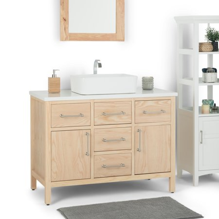 Brooklyn Max Calder 42 Inch Bath Vanity With White Engineered