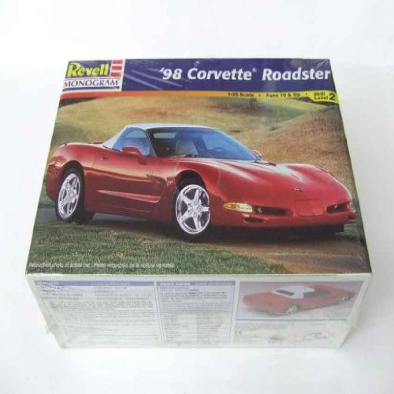 98 Corvette Roadster 1:25 Scale Model Car Kit By Revell Monogram Skill Level 2 by
