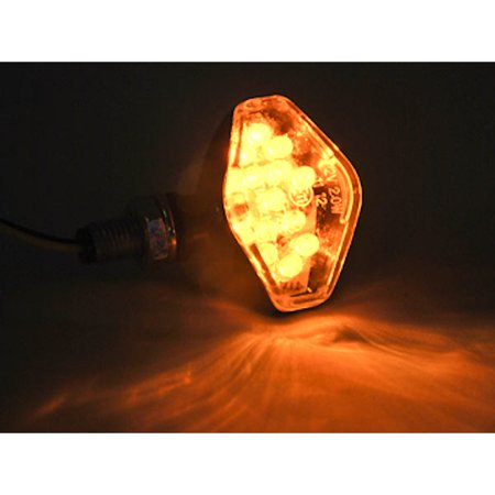 Mini Custom LED Turn Signal Indicator Lights Lamp For Harley Davidson Electra Glide Classic Custom - image 1 de 4