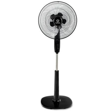 66w Double Pedestal (Costway Fantask 16'' Oscillating Pedestal Fan 3 Speed Double Blades Height)