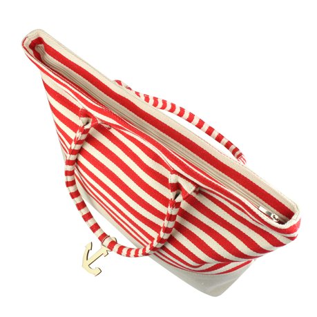 0621cb6a128c Zodaca Stripes Design Women Handbag Ladies Large Shoulder Tote Purse  Messenger Bag (Size  22