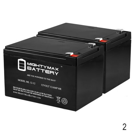 12V 12AH Sealed Lead Acid Battery for Mega Motion Elite 8 - 2 Pack