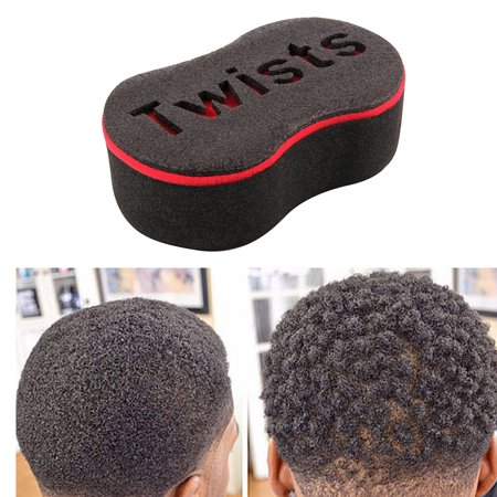 ZeAofa 8 Shape Barber Tool Hair Sponge Brush for Dreads Locking Wave Twists Coil
