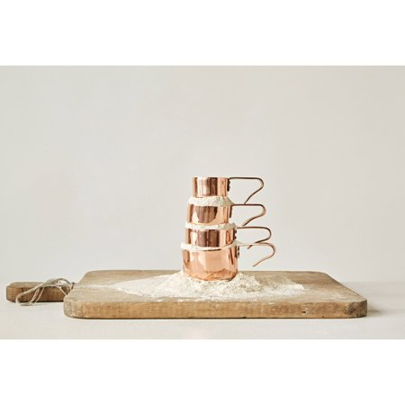 Copper Measuring Cups - 3R Studios Copper Measuring Cups - Set of 4
