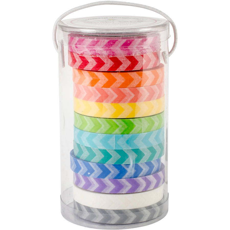 Kraft In Color Washi Tape In Tube Container