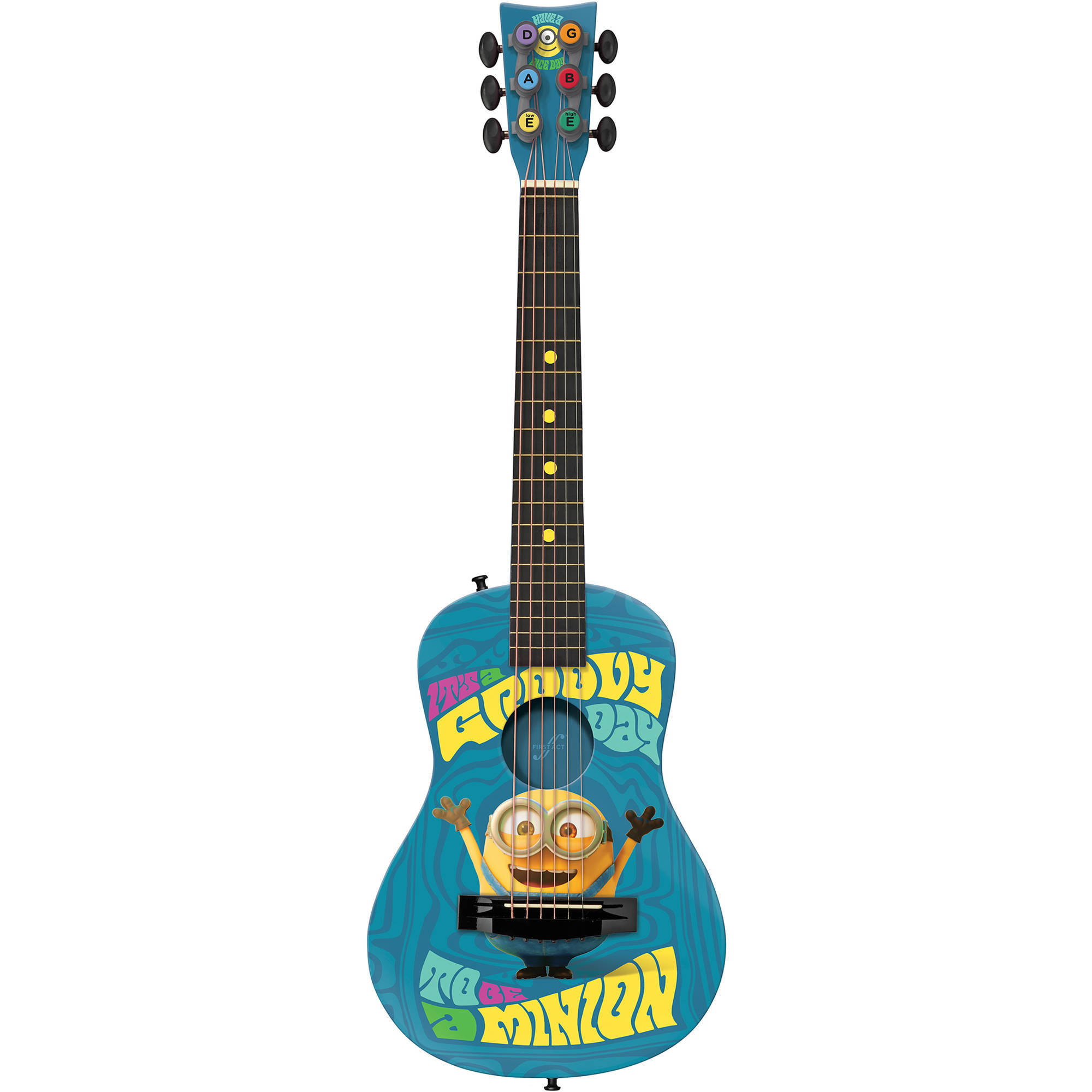 First Act Universal Minions Acoustic Guitar MN705, Blue by FIRST ACT INC.