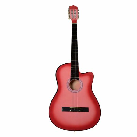 38 Inch Cutaway Acoustic Guitars with Guitar Plectrum Pink music instrument 38' Acoustic Cutaway Guitar
