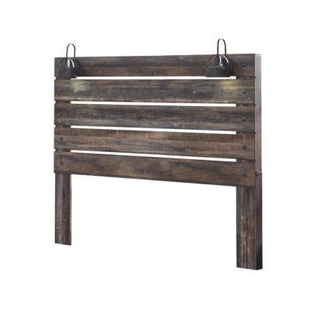 Signature Design by Ashley Drystan Rustic Brown King Panel Headboard ()