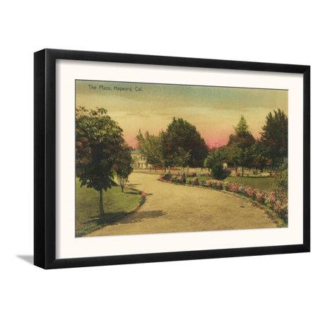 View of the City Plaza - Hayward, CA Framed Art Print Wall Art  By Lantern Press - (Prada City)