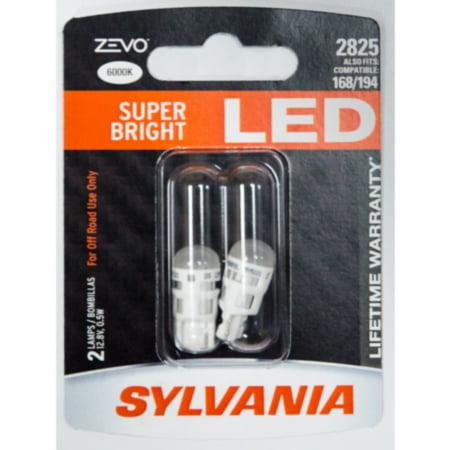 Sylvania 2825 ZEVO  LED Bulbs -, 2/card, sold by card