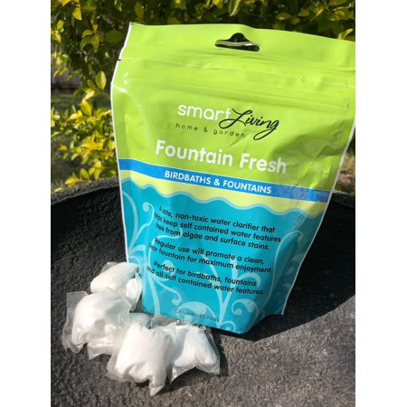 Fountain Fresh Water Clarifier - 25 Water Soluble Pods