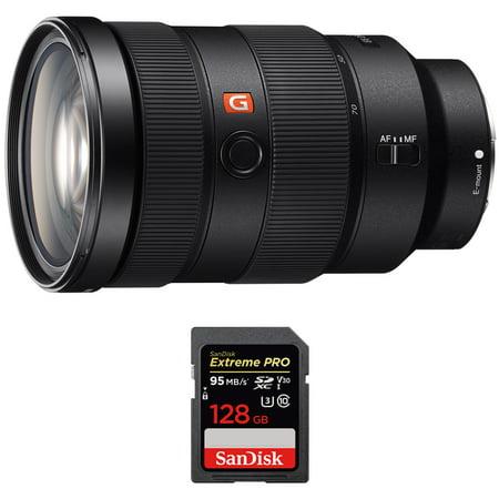 Sony (SEL2470GM) FE 24-70mm F2.8 GM Full Frame E-Mount Lens w/ Sandisk Extreme PRO SDXC 128GB UHS-1 Memory (Best Sony Full Frame Lenses)