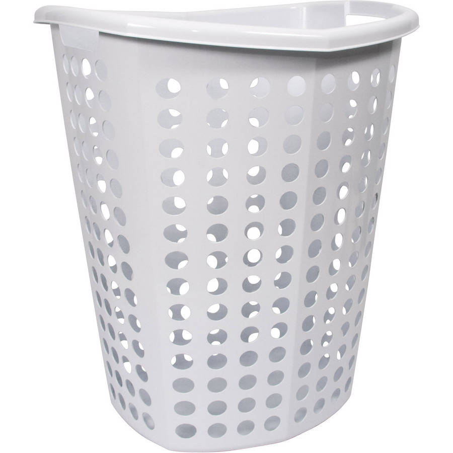 Home Logic 1.7-Bu Space Saving D-Shaper Hamper, White