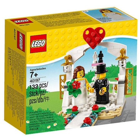 Lego 40197 Wedding Favor Set Bride & Groom 2 Minifigure Cake Topper New with Box - Cake Favor Boxes