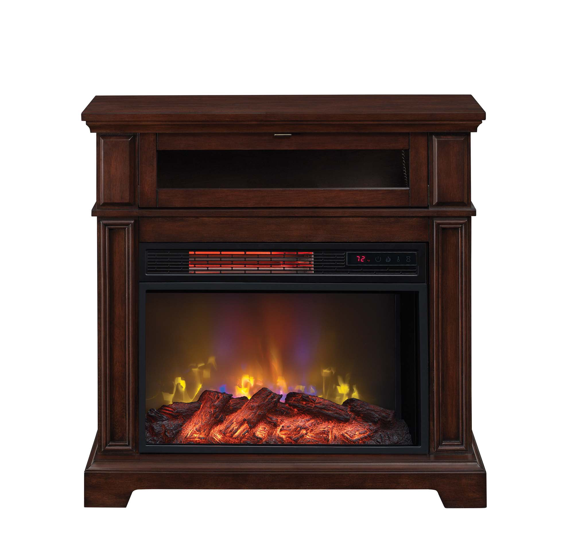 meridian chimneyfree quartz ip digital walmart electric fireplace cherry com infrared