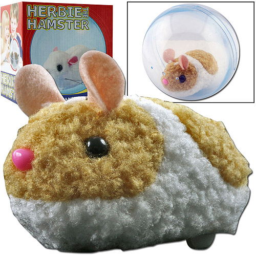 Herbie the Hamster Electronic Pet, Tan & White