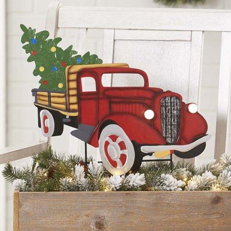 Christmas Truck Solar Garden -