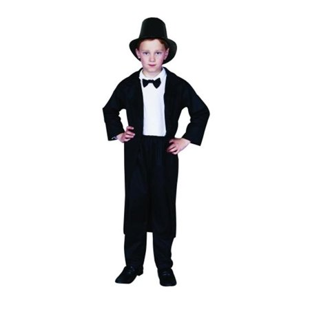 Abraham Lincoln Costume - Size Child Large 12-14