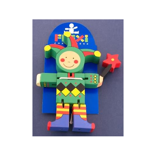 Wooden Jester Flexi Character by The Toy Workshop