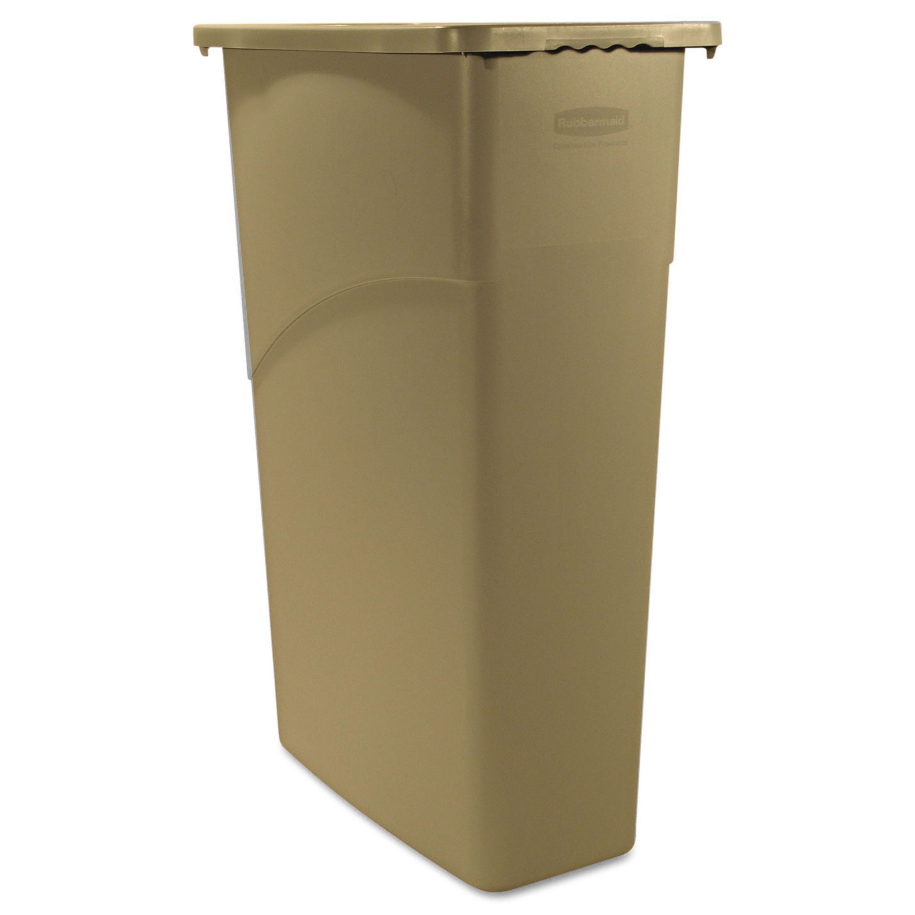 Rubbermaid Commercial Slim Jim Waste Container, Rectangul...