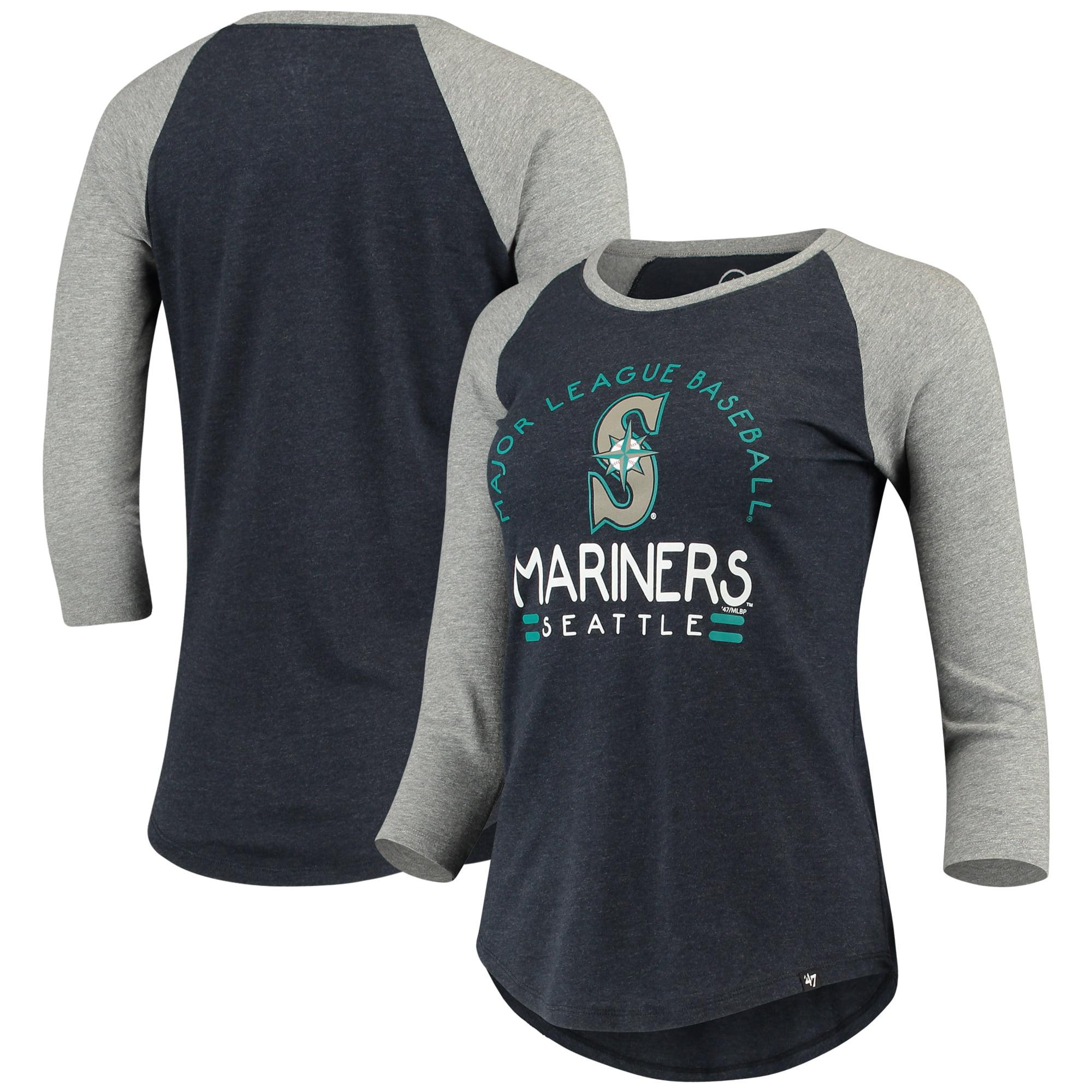 Seattle Mariners '47 Women's Club 3/4-Sleeve Raglan T-Shirt - Heathered Navy