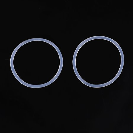 100pcs White Rubber O-Ring Seal Gasket Washer for Automotive Car 16 x 1mm - image 2 of 4