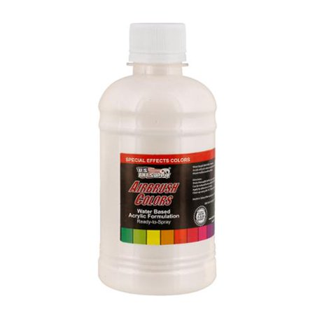 US Art Supply 8-Ounce Special Effects White Pearl Airbrush Paint