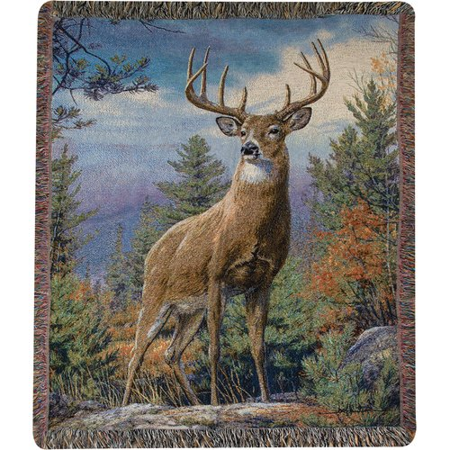 Manual Woodworkers & Weavers Standing Proud Tapestry Cotton Throw